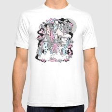 Head in the Clouds. Mens Fitted Tee SMALL White