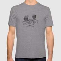 Bone Couple Mens Fitted Tee Athletic Grey SMALL