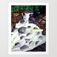River along the Forest Art Print