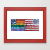 Flags for The Future 28 Framed Art Print