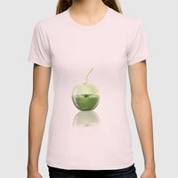 Apple Juice Womens Fitted Tee Light Pink SMALL