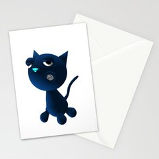 Light Blue Cat Stationery Cards