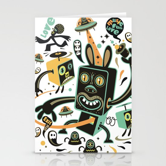 Little Black Magic Rabbit Stationery Card