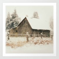 Rustic Winter Art Print