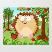 Igel - Apple Harvest In … Canvas Print