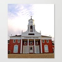 Canvas Print featuring Lakewood Historic Theatre by Vorona Photography