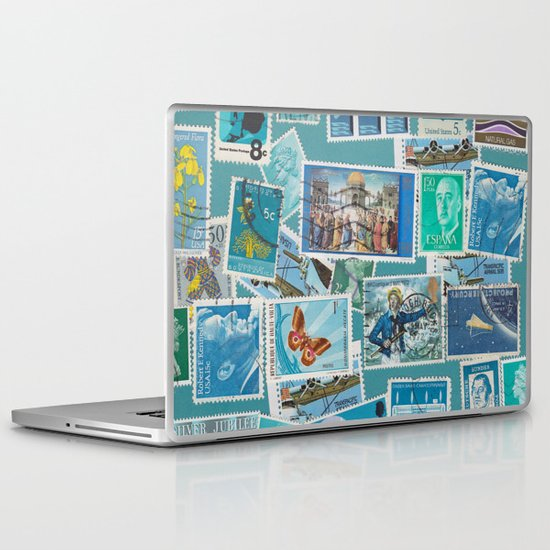 Postage Bleu Laptop & iPad Skin