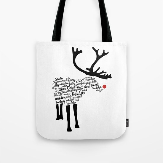 Rudolph Typography Tote Bag