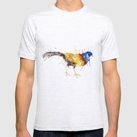 Double Barded Argus Mens Fitted Tee Ash Grey SMALL