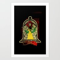 Beauty and the beast (Belle) Art Print