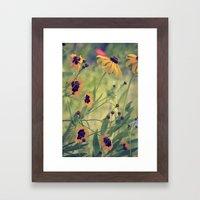 Golden Garden Framed Art Print
