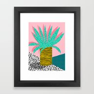 In The Mix - 80's Neon H… Framed Art Print