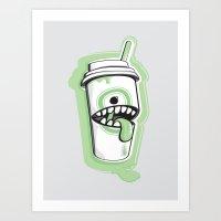Latte Ghost Art Print