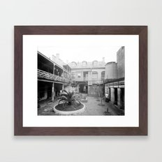 Old French courtyard, New Orleans Framed Art Print