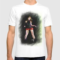 Live For Dance Mens Fitted Tee White SMALL