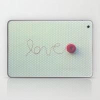 love in string Laptop & iPad Skin