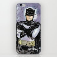 THE CAPED CRUSADER iPhone & iPod Skin