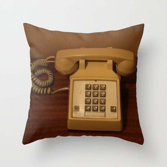 Vintage Retro Telephone Throw Pillow / Indoor Cover (20