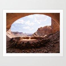 False Kiva, Utah Art Print
