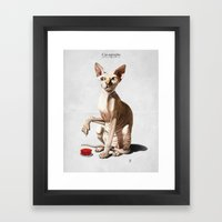 Cat-astrophe Framed Art Print