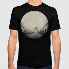 St. Johns Bridge SMALL Mens Fitted Tee Black