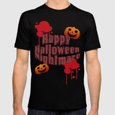 Happy Halloween Nightmare  SMALL Mens Fitted Tee Black