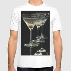 Three Martini's and three olives.  White Mens Fitted Tee SMALL