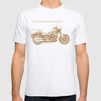 Travel Plan Mens Fitted Tee Ash Grey SMALL
