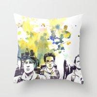 Ghostbusters Peter Venkman, Egon Spengler, Raymond Stantz Throw Pillow