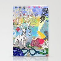 The Lovers and the blue deer  Stationery Cards