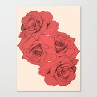 Tattoo Rose | Floral  Canvas Print