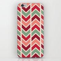 Zig Zag (red) iPhone & iPod Skin