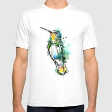 Emerald Hummer White SMALL Mens Fitted Tee