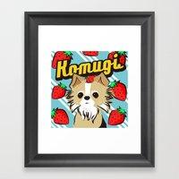 Komugichan Framed Art Print