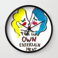 we are lesbians for our own entertainment Wall Clock