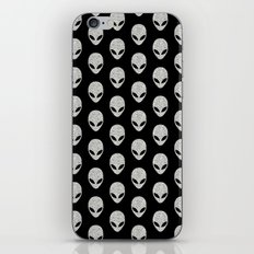 Glitter Grey Aliens iPhone & iPod Skin
