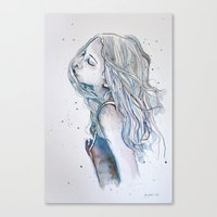 Breeze (variant II), watercolor painting Canvas Print