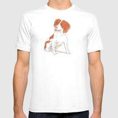 Springer Spaniel Dog White Mens Fitted Tee SMALL