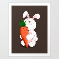 Bunny Luv! Art Print