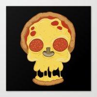 Deadly pizza Canvas Print