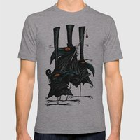 Murder of Crows Mens Fitted Tee Athletic Grey SMALL