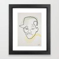 One Line Fresh Prince Of… Framed Art Print