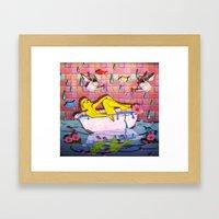 Spring Bath Framed Art Print