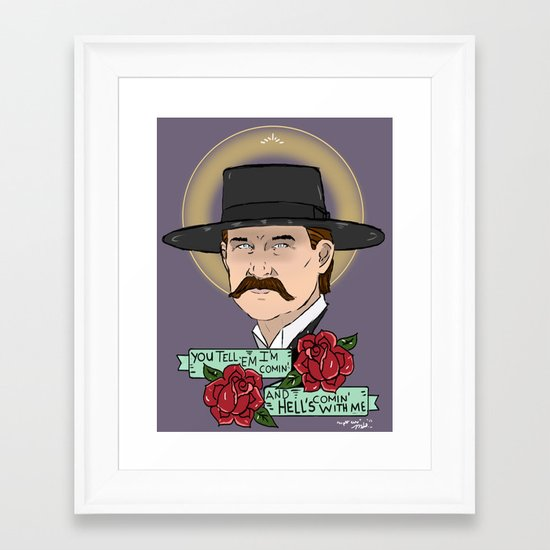 Wyatt Earp Framed Art Print