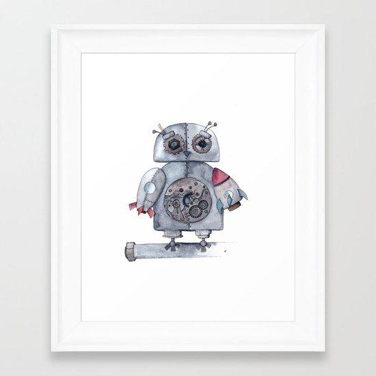 Steampunk Owl Framed Art Print