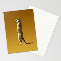 Geometric Meerkat Stationery Cards