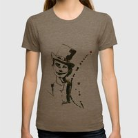 CLOWN Womens Fitted Tee Tri-Coffee SMALL