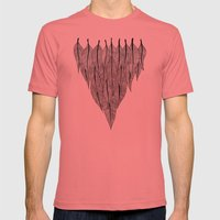 Feather Shield Mens Fitted Tee Pomegranate SMALL