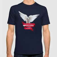 His Banner Over Me Is Lo… Mens Fitted Tee Navy SMALL