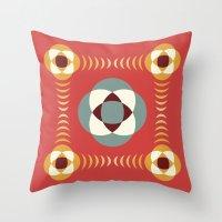 Good Vibratons [Red] Throw Pillow